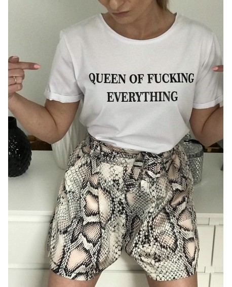 T-shirt QUEEN white